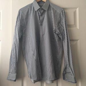 Ted Baker blue White Stripe Button Down Shirt